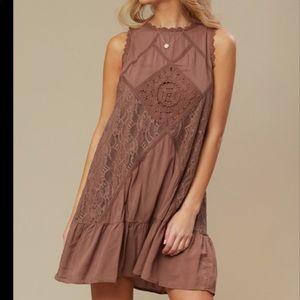 ALTAR'D STATE cream lace mini dress